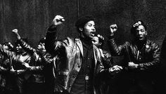 Photo of Black Panthers protesting in NYC 1969