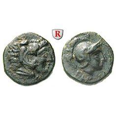 Mysien, Pergamon, Bronze 310-283 v.Chr., ss: Bronze 10 mm 310-283 v.Chr. Kopf des Herakles r. mit Löwenfell / Kopf der Athena r. mit… #coins