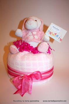 Torta Mini Rosa - Nuvolina, la Torta Pannolina
