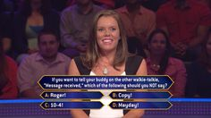 Today, Aubrey Jankowski gets the message when she faces this question on a fun #MillionaireTV. But will she have the correct #FinalAnswer? What about you? Don't miss Friday's show with host Terry Crews and see how Aubrey responds. Go to www.millionairetv.com for local time and channel to watch!