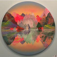Beautiful landscapes by Kate Shaw. @art15london #art15