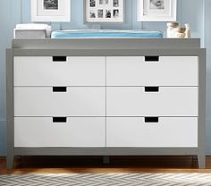 Baby Furniture - Changing Tables | Pottery Barn Kids Tatum Extra wide Dresser