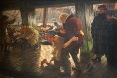 James Tissot, Suite de l'enfant prodigue : le retour,  vers 1880, Musée des Beaux-Arts de Nantes