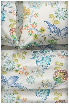 Anthropologie's sheets.