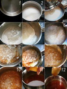 Como hacer el caramelo paso a paso http://www.unodedos.com/recetario-de-cocina/caramelo-liquido/