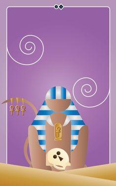 Noo Spinoolean Tarot - Four of Ankhs