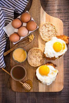 Chicken and Egg Sandwich | girlinthelittleredkitchen.com