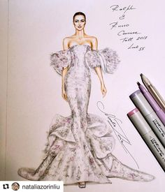 How to Draw a Fashionable Dress - Drawing On Demand Fashion Drawing Tutorial, Fashion Figure Drawing, Fashion Drawing Dresses, Fashion Illustration Dresses, Fashion Illustrations, Dress Design Drawing, Dress Design Sketches, Fashion Design Sketchbook, Fashion Design Drawings