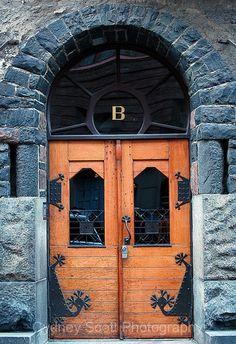 Helsinki, Finland (Photo by Cydney Scott) wooden Doors doorway portal entrance Grand Entrance, Entrance Doors, Doorway, Cool Doors, Unique Doors, Portal, Door Knockers, Door Knobs, When One Door Closes