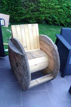 Unique in style pallet rocking chair