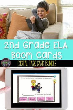 Looking for digital ELA practice activities for your 2nd grade class? This GROWING bundle includes an entire year of self-checking ELA digital task cards that cover core language skills taught in 2nd grade! It currently includes 25 second grade grammar and vocabulary Boom Card™ activities with more to be added! Teaching Vocabulary, Teaching Phonics, Grammar And Vocabulary, Run On Sentences, Multiple Meaning Words, Teaching Second Grade, Collective Nouns, Classroom Routines, Nouns And Verbs