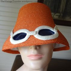 1960s Sun Hat, Glasses Included | The Vintage Traveler  http://thevintagetraveler.wordpress.com/2013/04/25/1960s-sun-hat-glasses-included/