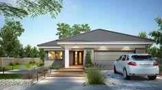 Projekt domu Miriam III 118,10 m² - koszt budowy - EXTRADOM Simple Bungalow House Designs, Modern Bungalow House, Bungalow House Plans, House Plans Mansion, Dream House Plans, Modern House Plans, House Layout Plans, House Layouts, One Storey House
