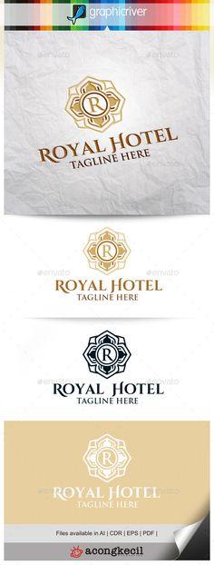 Royal Hotel V.2 — Vector EPS #brand #vintage • Available here → https://graphicriver.net/item/royal-hotel-v2-/11300827?ref=pxcr