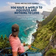 """""""You Have A World To Discover And Nothing To Lose"""" \m/  #travel #explore #travelgram #instatravel #instaquote #quotes #motivation #instatraveler #instatrip #instatravelgram #nature #beach #startups #business #subscribe #vacations #adventures #followus #memories #onlinetravelagency"""