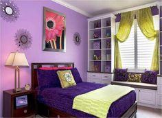 Image of: Teenage Purple Bedroom Ideas