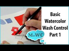 Basic Watercolor Painting Wash Control – Part 2, Graduated Washes - YouTube