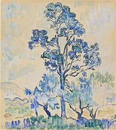 Paul Signac(Fr. 1863-1935),Eucalyptus à Antibes, 1910, aquarelle