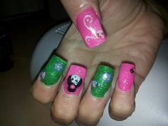 Nail art giapponese in 3D in acrilico❤