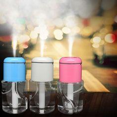 USB Air humidifier 5V Car Aroma Diffuser Steam Air Humidifier Aromatherapy Essential Oil Diffuser Portable Mist Maker 150ml