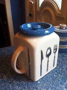 Vintage Pountney & Co Bristol Long Line Storage Jar Kitchen Canisters, Kitchenware, Tableware, Vintage Kitchen, Retro Vintage, Cake Tins, Jar Storage, Cookie Jars, China Porcelain
