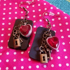 Steam punk love earrings by KandiKisses designs