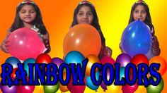 RAINBOW COLORS BALLOONS SHOW FOR CHILDREN KIDS TODDLERS * CHILDREN LEARN...