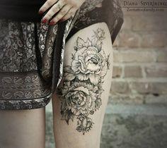 Floral tattoo | Diana Severinenko