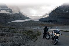 The Icefields Parkway takes you past glaciers in full retreat. Published in the July 2008 issue of Rider magazine.