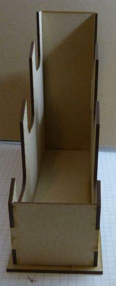 Wood mini album stand