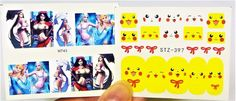 You will get a set of Water Decals 2 Sheets Pikachu Nail Decal, Elsa Nail wrap, Girls Nail art. Sop up any remaining water with a tissue & either wait for 1-2 minutes to set or blast for 30 seconds with a hairdryer. | eBay!
