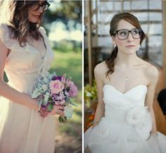 #Ladies, wear your glasses with pride! If there is one thing we love at Love My Dress, it's a #bride in #glasses - they just look so incredibly stylish.