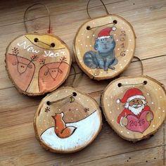Картинки по запросу деревянный спил идеи новый год
