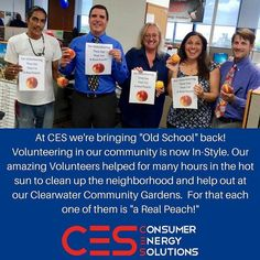 We at CES are big on volunteering. Lots of appreciation goes out to these guys!  #CES #Volunteer #GiveBacktotheCommunity