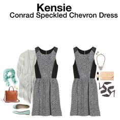 Kensie Conrad Speckled Chevron Dress - so cute!!