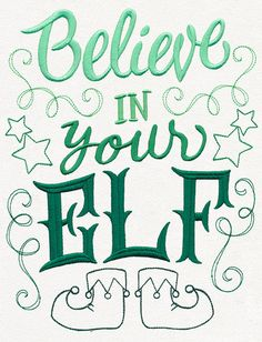 Christmas Apron Believe in Your Elf Embroidered (May be Personalized)