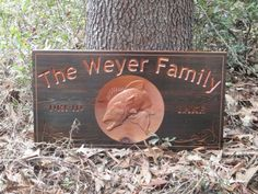 Rustic Fishing Personalized Family Name by GPandSonWoodcrafting