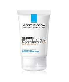 La Roche-Posay Toleriane Double Repair Face Moisturizer | Since starting this routine, the results have been amazing. No more bouts of flaky, dry skin—and my acne is gone, too.