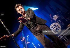 Jay Buchanan and Mike Miley of the Rival Sons performing on stage at Portsmouth Pyramids on...