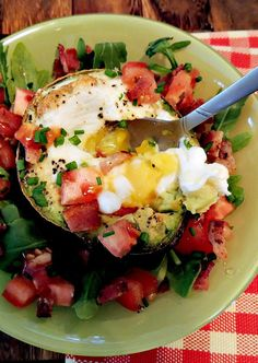 BLT With Baked Avocado Egg Salad