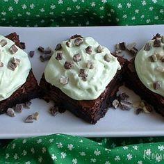 Irish Cream Mint Brownies