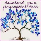 Fun for the girls or to make a family tree with grandmas and grandpas, aunts, uncle, etc. Wedding Fingerprint Tree, Fingerprint Art, Make A Family Tree, Free Family Tree, Christmas Tree Branches, Real Christmas Tree, Art For Kids, Crafts For Kids, Tree Templates
