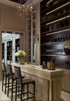 Modern home bar design ideas Modern Home Bar Designs, Home Modern, Modern Luxury, Modern Design, Bar Interior Design, Home Design, Design Ideas, Interior Decorating, Decorating Tips