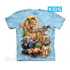 The Mountain Zoo Collage Kids T-Shirt
