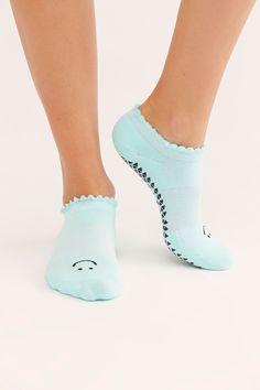 Happy Grip Socks | Free People Cute Smiley Face, Barre Socks, Grip Socks, Free People Store, Cute Socks, Fitness Studio, Ankle Socks, Birthday Presents, Barefoot