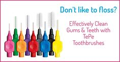 You might have heard news saying that flossing isn't effective, but YES, it is essential to clean between your teeth! If you're part of the 20% who don't floss at all, or you don't do it enough because it just isn't for you, check out TePe interdental toothbrushes.