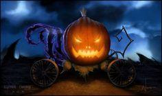 Nightmare pumpkin carriage by weslouie