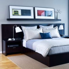 Modern clean lines, crisp linens... I would have to make my bed every day or I would get irritated...