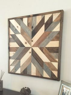 SALE Reclaimed wood wall art modern wall by NorthernOaksDecorCo