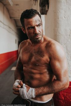 Dirty work: Hollyoaks actor Jamie Lomas is making sure he stays in shape for his bad boy r...
